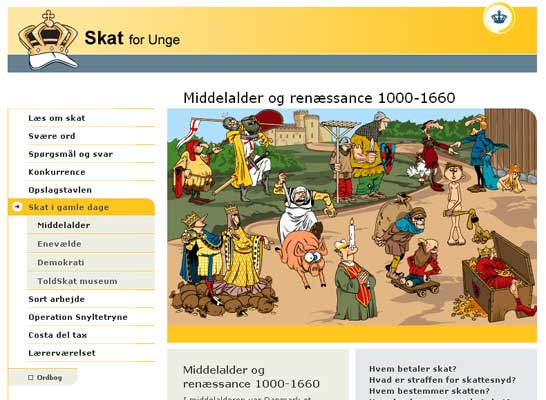Skat for unge - website